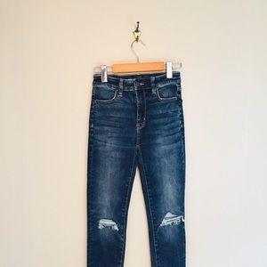 AE High Rise Stretch Distressed Skinny Jeans